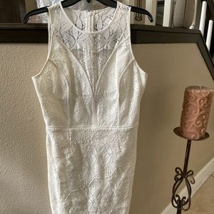 Dresses & Skirts - White lace high low dress